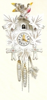 Cuckoo Clock White